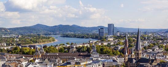 Luftaufnahme von Bonn